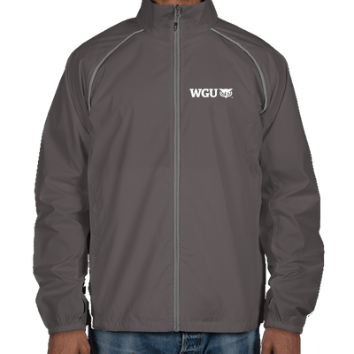 Elevate Egmont Packable Contrast Zipper Windbreaker - WGU Clearance