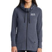 New Era® Ladies Tri-Blend Fleece Full-Zip Hoodie - Indiana