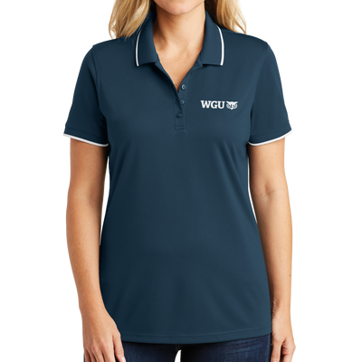 Port Authority® Ladies Dry Zone® UV Micro-Mesh Tipped Polo - WGU Clearance