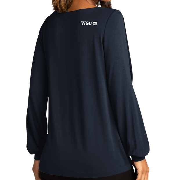 Port Authority ® Ladies Luxe Knit Jewel Neck Top - WGU Loves Teachers