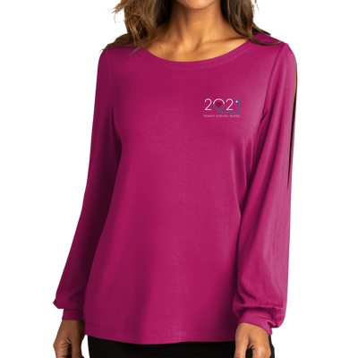 Port Authority ® Ladies Luxe Knit Jewel Neck Top - Nurse 2021