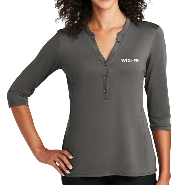 Port Authority Ladies UV Choice Pique Henley