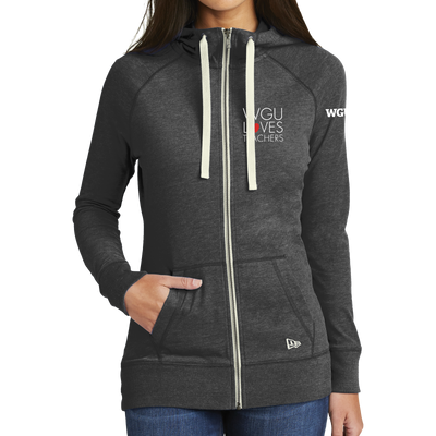 New Era® Ladies Sueded Cotton Blend Full-Zip Hoodie - WGU Loves Teachers