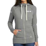 New Era® Ladies Sueded Cotton Blend Full-Zip Hoodie- Sage's Exchange