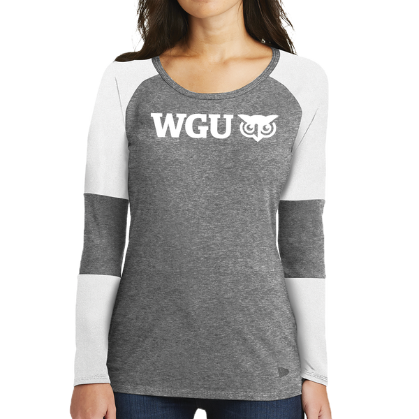 New Era® Ladies Tri-Blend Performance Baseball Tee