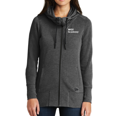 New Era® Ladies Tri-Blend Fleece Full-Zip Hoodie - WGU Academy