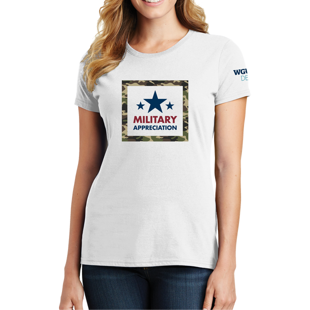 Port & Company Ladies Fan Favorite Tee - Military Appreciation