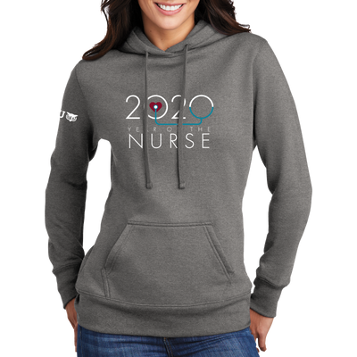 2020 Year of the Nurse Port & Company ® Ladies Core Fleece Pullover Hooded Sweatshirt - WGU Clearance