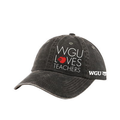 Port Authority® Ladies Garment Washed Cap - WGU Loves Teachers