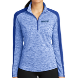 NEW Sport-Tek® Ladies PosiCharge® Electric Heather Colorblock 1/4-Zip Pullover