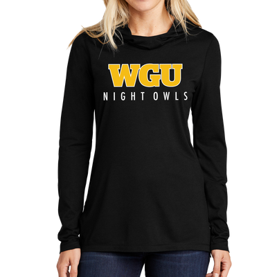 Sport-Tek Ladies PosiCharge Tri-Blend Wicking Long Sleeve Hoodie- Night Owl