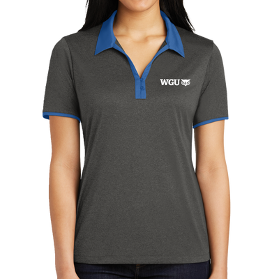 Sport-Tek® Ladies Heather Contender™ Contrast Polo