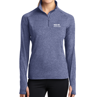 Sport-Tek® Ladies Sport-Wick® Stretch 1/2-Zip Pullover - Missouri