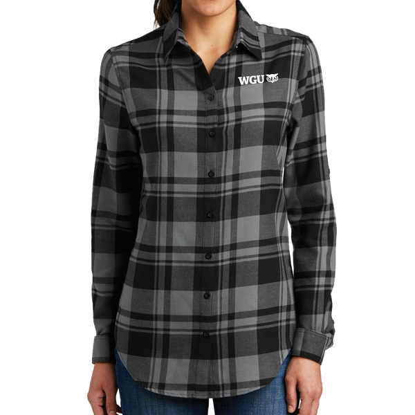Port Authority® Ladies Plaid Flannel Tunic