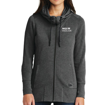 New Era® Ladies Tri-Blend Fleece Full-Zip Hoodie - Missouri