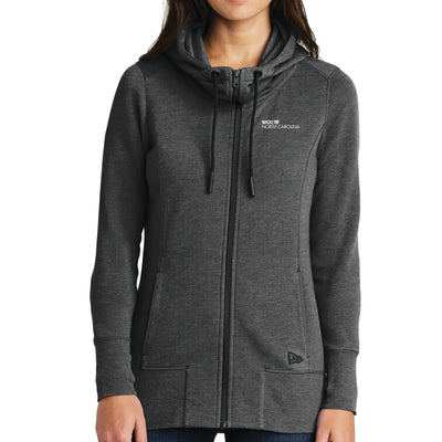 New Era® Ladies Tri-Blend Fleece Full-Zip Hoodie - North Carolina