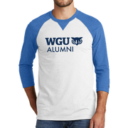 New Era® Sueded Cotton 3/4-Sleeve Baseball Raglan Tee - Alumni