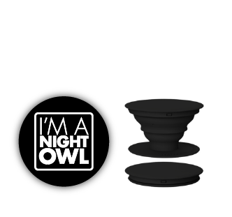 Night Owl Pop Socket
