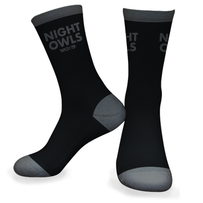 Night Owl Grey and Black Sock