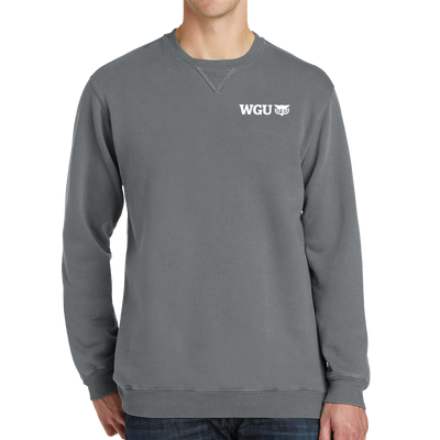 Port & Company® Beach Wash™ Garment-Dye Sweatshirt - WGU Clearance