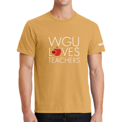Port & Company Beach Wash Garment-Dyed Tee-  WGU Loves Teachers