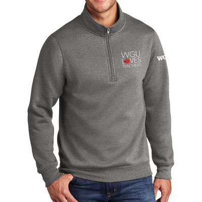 Port & Company Core Fleece 1/4-Zip Pullover Sweatshirt - WGU Loves Teachers