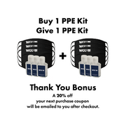 Buy 1 PPE Kit, Give 1 PPE Kit Kit Includes 3 Antimicrobial Cotton Knit Face Masks &  3 - 2 oz. bottles hand sanitizer