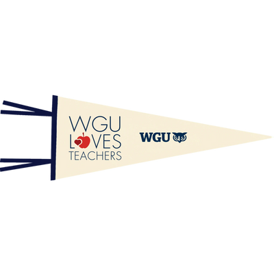Pennant Flag - WGU Loves Teachers