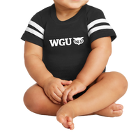 NEW Rabbit Skins Infant Football Fine Jersey Bodysuit