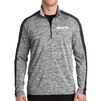 NEW Sport-Tek® PosiCharge® Electric Heather Colorblock 1/4-Zip Pullover