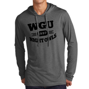 Sport-Tek PosiCharge Tri-Blend Wicking Long Sleeve Hoodie- Night Owl