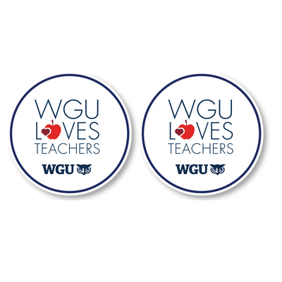 WGU Loves Teachers Coaster Set