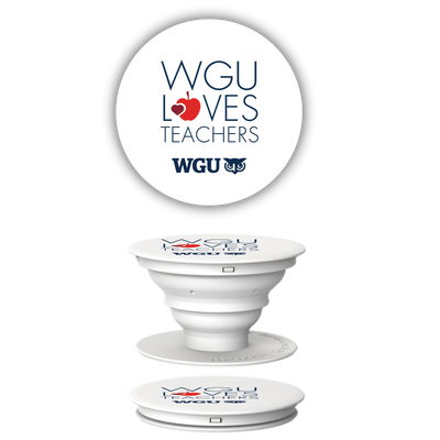 WGU Loves Teachers Pop Socket Phone Accessory