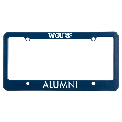 WGU Alumni License Plate Frame