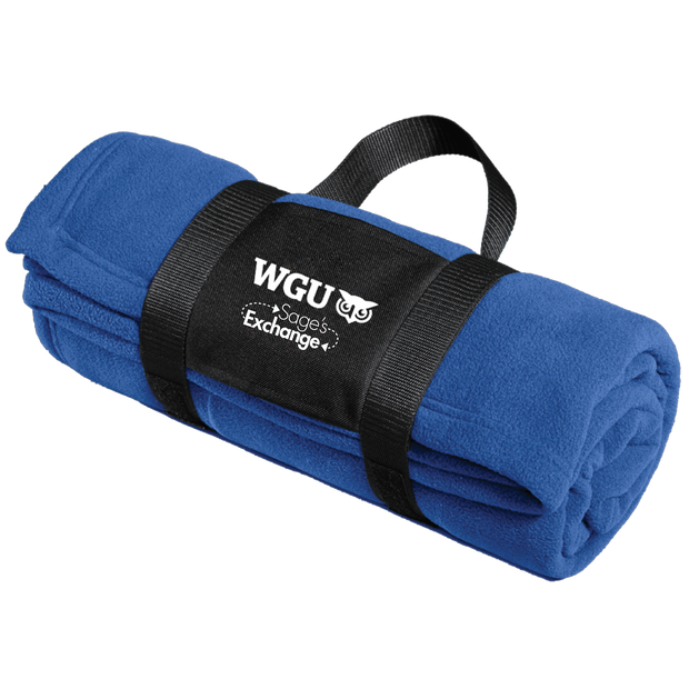 Port Authority® Fleece Blanket with Carrying Strap- Sage's Exchange