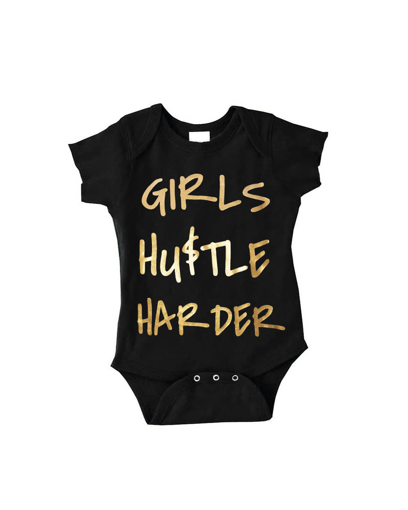 Girls Hustle Harder Onesie