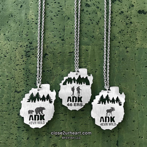 Close 2 UR Heart ADK Map Necklace