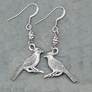 Cardinals Pewter Earrings
