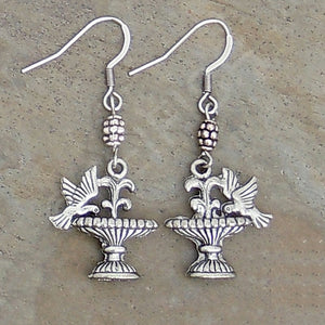 Bird Bath Earrings