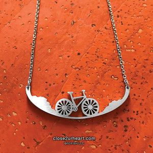 Close 2 UR Heart Bicycle Necklace