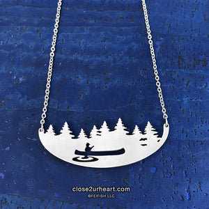 Close 2 UR Heart Canoeing Necklace