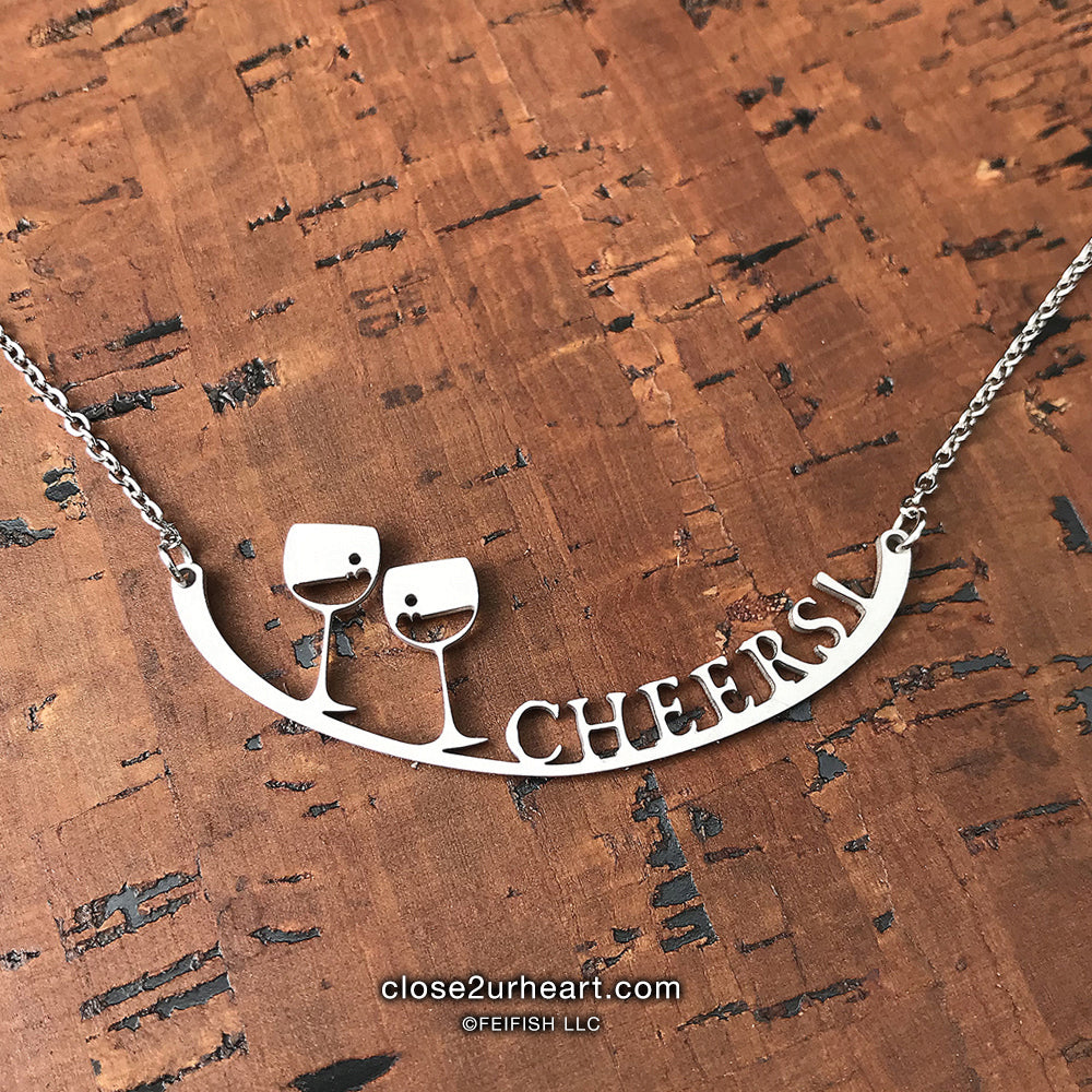 Close 2 UR Heart Cheers! Necklace