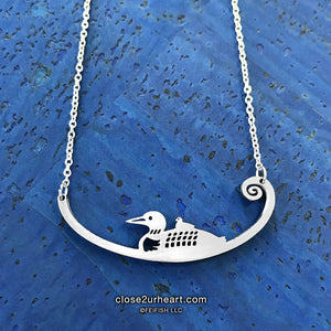 Close 2 UR Heart Loons Necklace