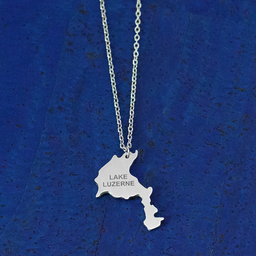 Lake Luzerne Stainless Steel Necklace, by Close 2 UR Heart