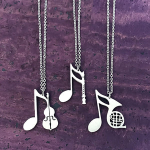 Cello, Clarinet or French Horn Necklace by Close 2 UR Heart