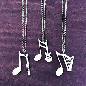 Flute, Guitar or Harp Necklace by Close 2 UR Heart