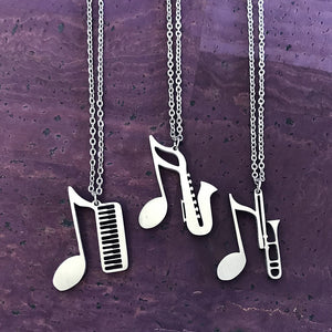Keyboard, Saxophone or Trombone Necklace by Close 2 UR Heart
