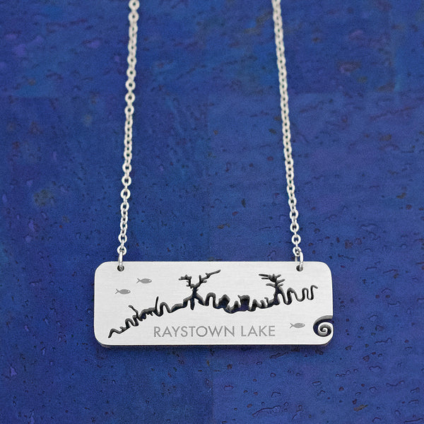 Raystown Lake Stainless Steel Tag-style Necklace