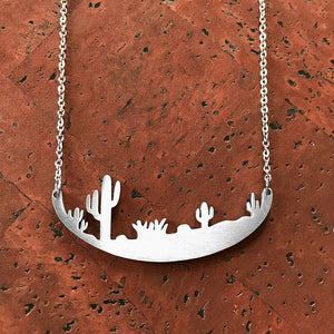 Saguaro Cactus Stainless Steel Necklace