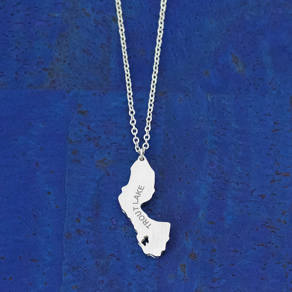 Trout Lake Stainless Steel Necklace, by Close 2 UR Heart
